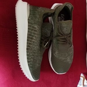 Puma olive green shoes sneakers